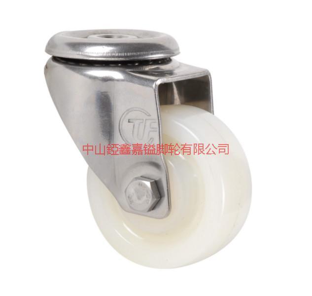 供应TF2寸不锈钢孔顶尼龙万向脚轮-2寸2.5寸3寸4寸5寸6寸8寸不锈钢尼龙轮