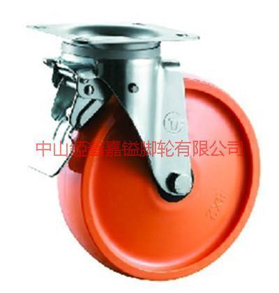 供应TF重型不锈钢聚氨酯刹车脚轮-欧款中型不锈钢那个万向轮-欧款脚轮价格