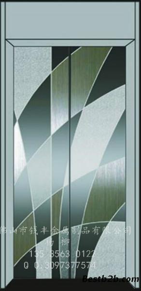 供应不锈钢镜面钛金蚀刻花纹电梯门板 /工程装饰材料/专业表面处理厂