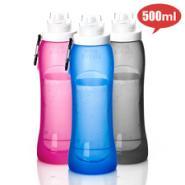 个性水杯定制便携旅行折叠水瓶图片