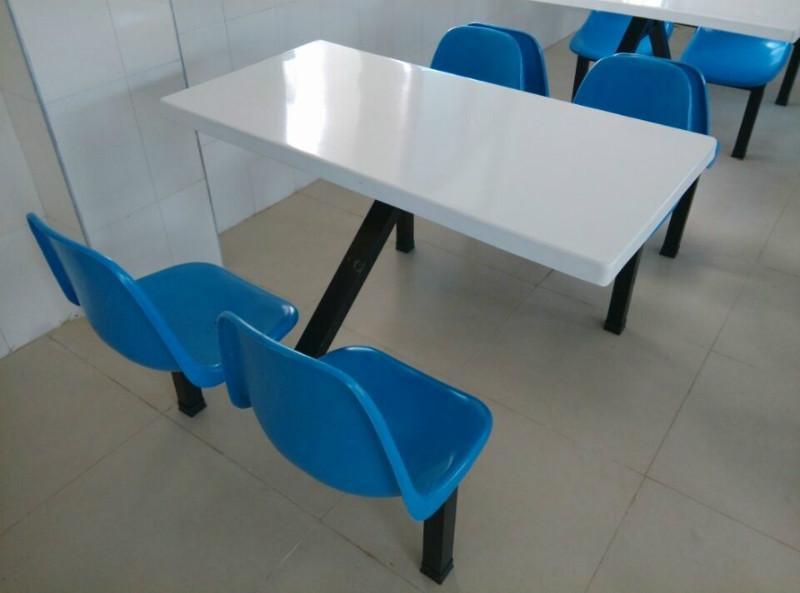 v餐桌快餐桌椅成套餐桌饭堂玻璃钢饭桌餐桌椅食堂吃食堂天轮地轮图片