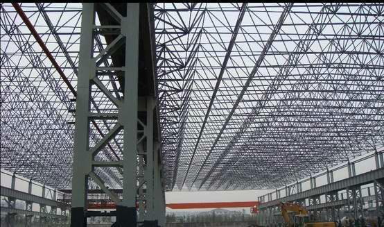 供应大型工业联合厂房钢网架加工安装
