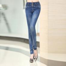 供应哪里有新款水洗牛仔裤批发零售韩版修身超显瘦做旧水洗小脚裤铅笔裤女图片