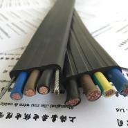 行车扁电缆线带钢丝图片
