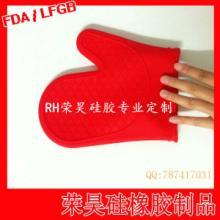 供应9英寸短款耐高温微波炉硅胶手套