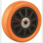 重型PU黑芯橙通花单轮供货商图片