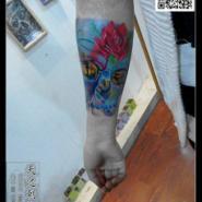 3D纹身鱼纹身脚裸纹身青岛纹身图片