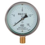 微压膜盒压力表YE-75/燃气表图片