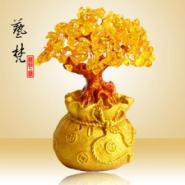 艺梵树脂工艺品创意钱袋招财树摆件图片
