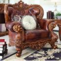 供应洛泰尔欧式客厅实木真皮复古沙发组合