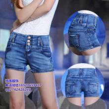 供应广州时尚女装牛仔裤短裤低价批发