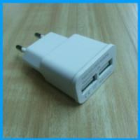 供应双USB充电器智能充电头5V2A
