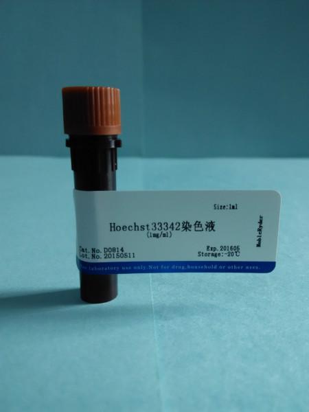 供应Hoechst33342染色液1mg/ml 1ml 量大优惠 Hoechst33342染色液1mg/ml
