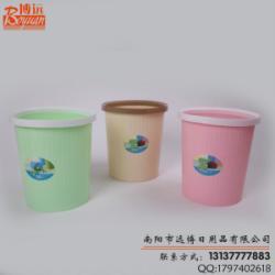 供應塑料壓圈垃圾桶印花垃圾簍廠家批發