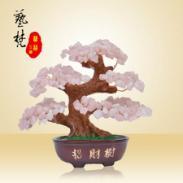 树脂工艺品摆件特色中国风水晶树图片