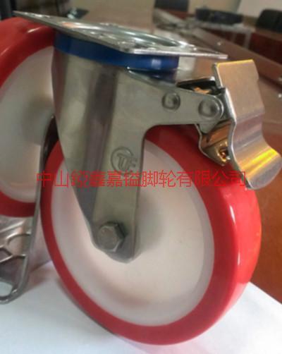 供应不锈钢PU脚轮,广东不锈钢脚轮生产厂家,不锈钢TPR,PU,尼龙