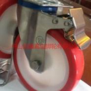 不锈钢PU脚轮图片
